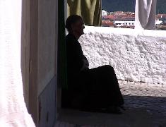 Old woman in Nazare